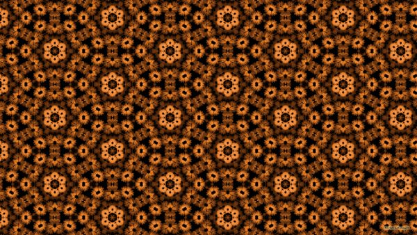 Brown flower pattern wallpaper