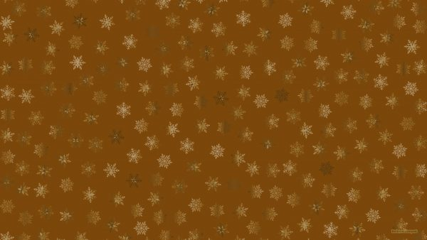 Brown wallpaper with ice stars.