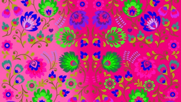 Desktop background with flower pattern