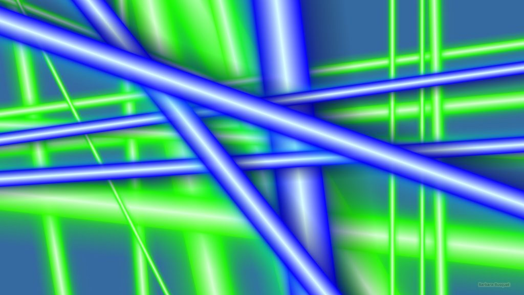 HD wallpaper blue and green lines