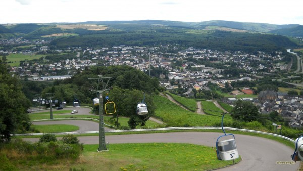 HD wallpaper chairlift and road