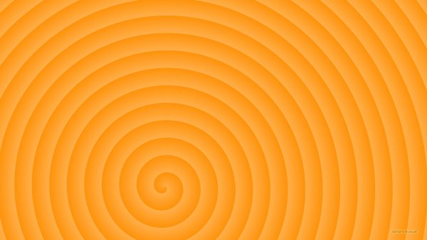 Orange spiral wallpaper.