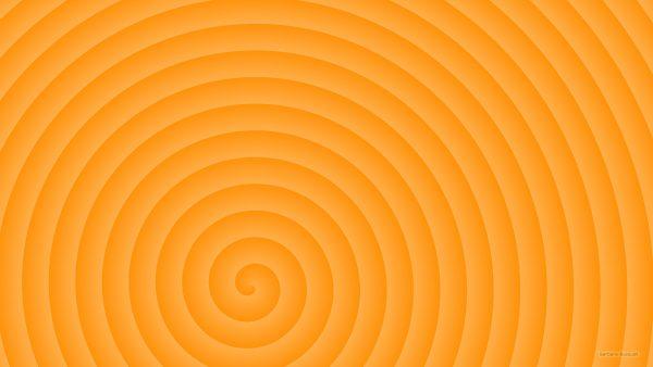 Orange spiral wallpaper.