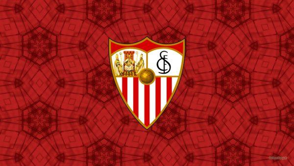 Red Sevilla FC logo wallpaper