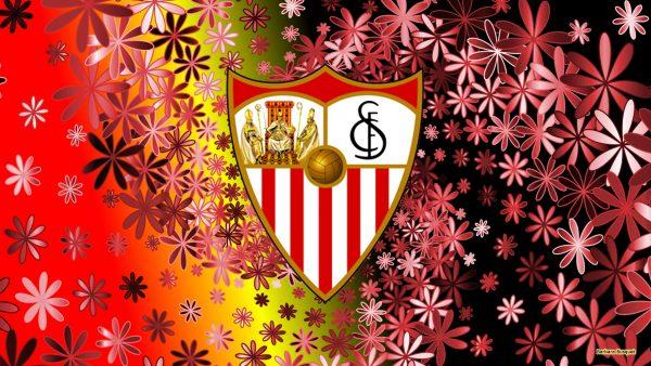 Sevilla logo wallpaper with flowers