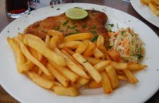 Schnitzel and french fries