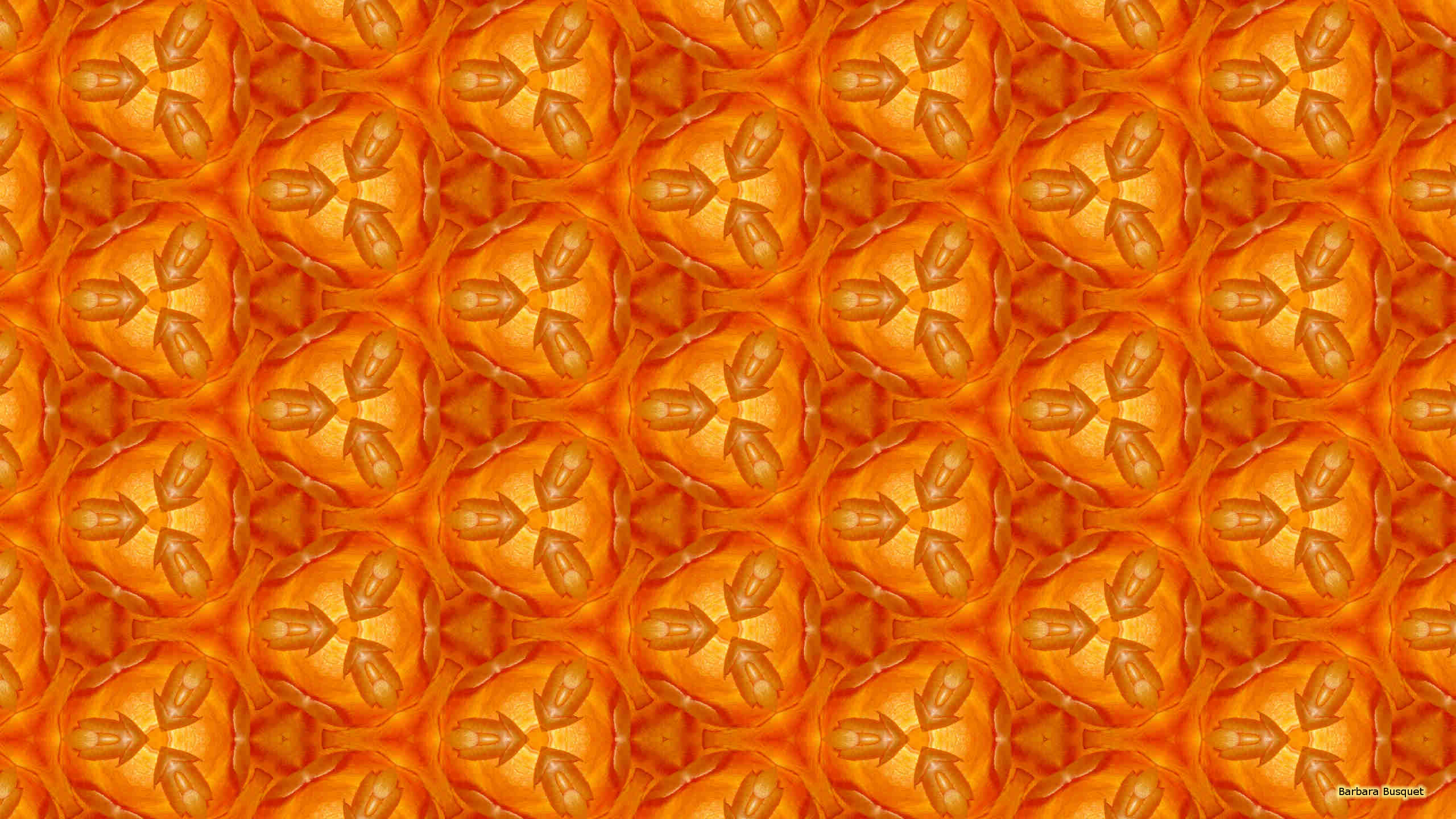 orange pattern wallpaper 1