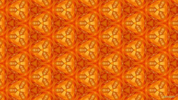 orange pattern wallpaper