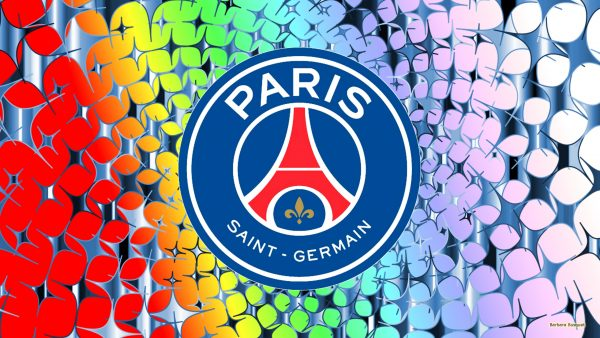 Colorful wallpaper Paris Saint Germain with stars