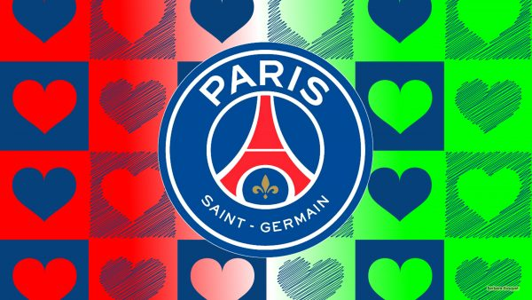 HD wallpaper Paris Saint Germain with hearts