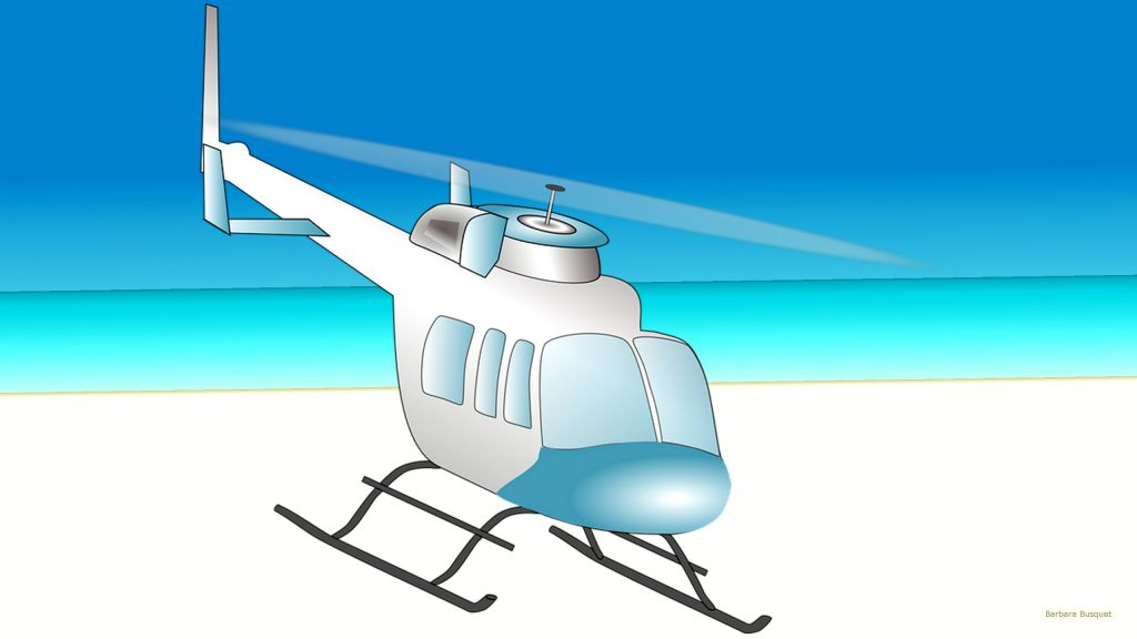 HD wallpaper helicopter on beach