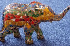 Colorfull mosaic elephant