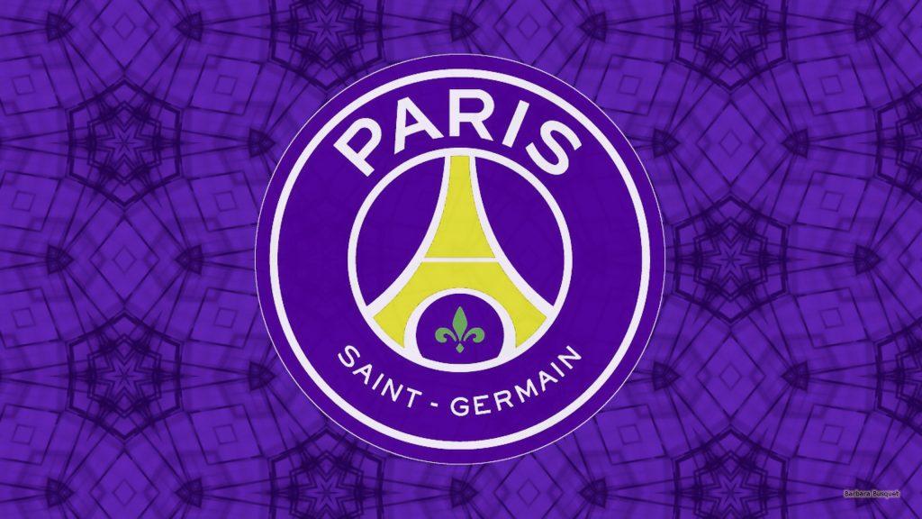 Purple Paris Saint-Germain football wallpaper.