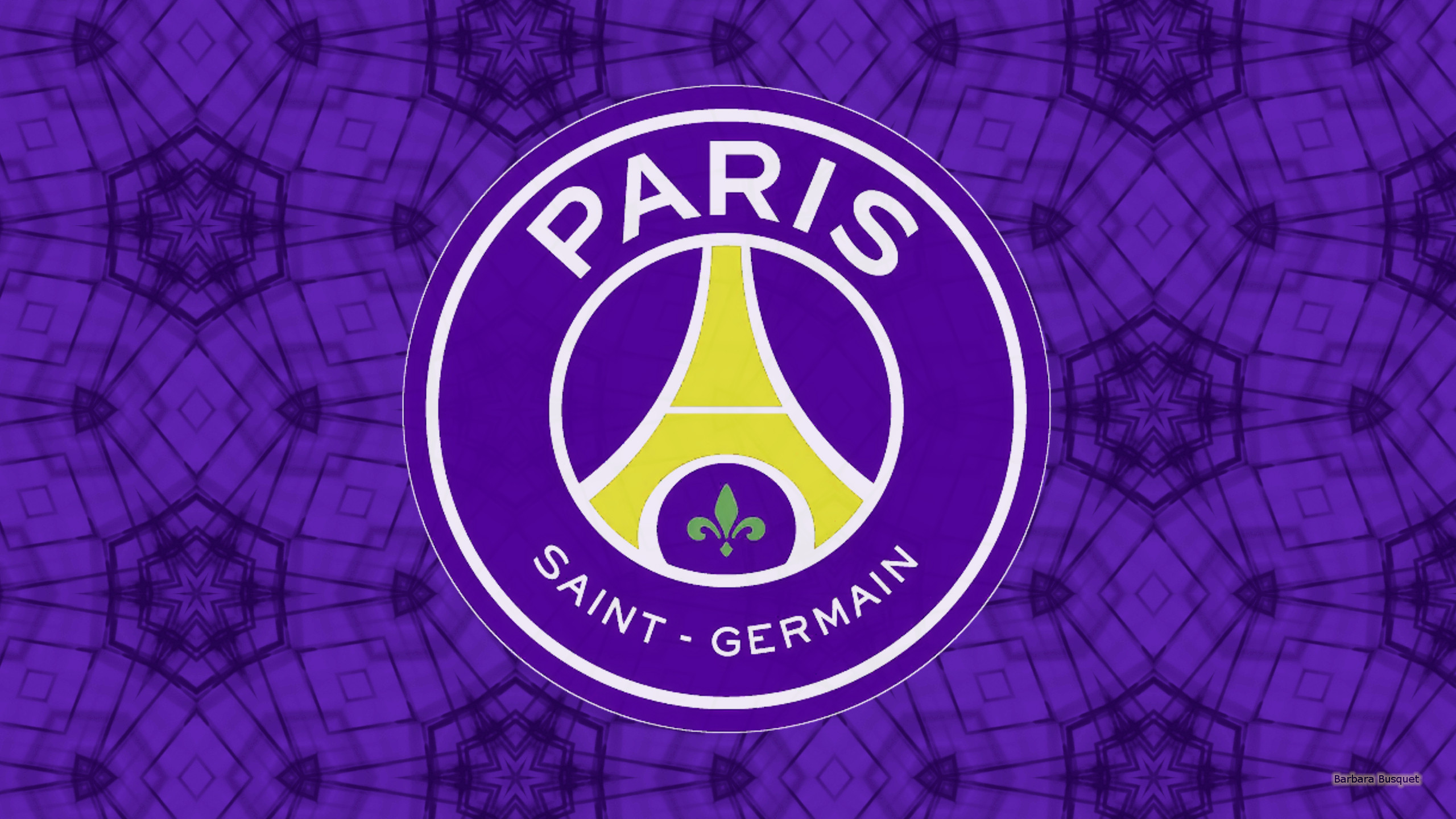 Purple Paris Saint Germain Football Wallpaper With Also Logo In The Center