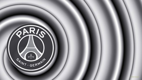Silver gray Purple Paris Saint-Germain football wallpaper.