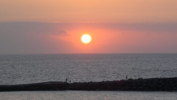 Sunset at beach in Tenerife