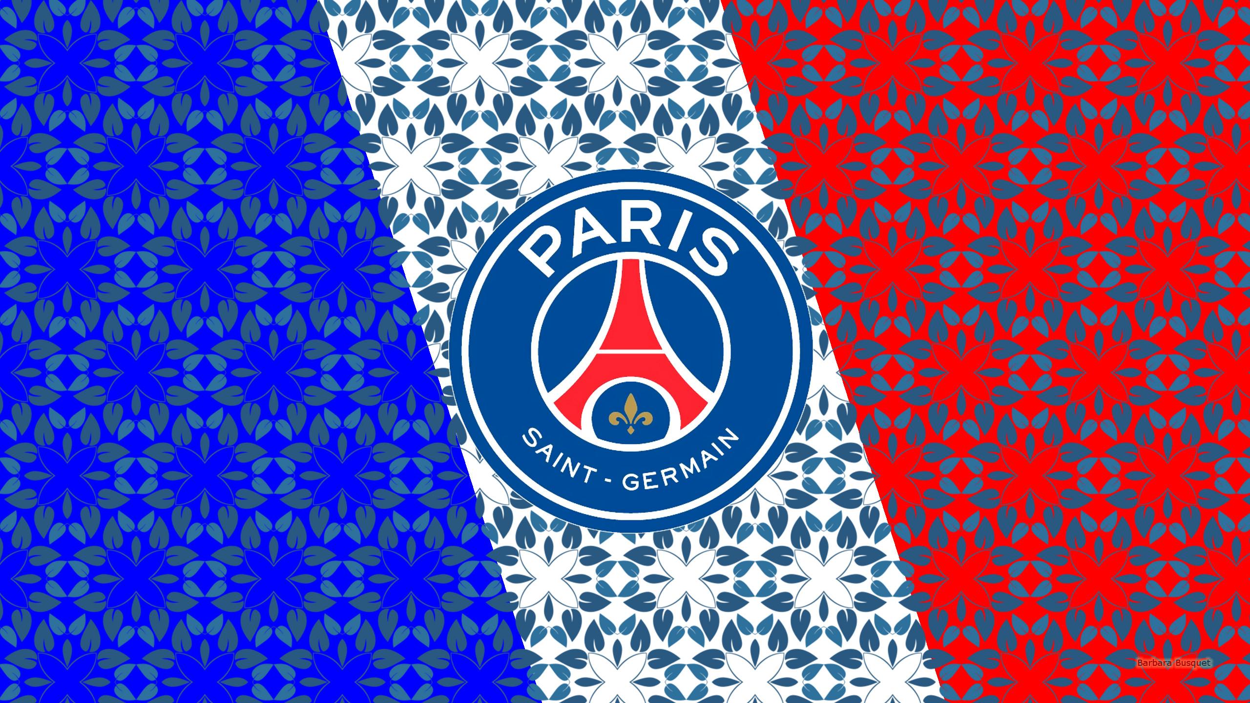 French Flag PSG Emblem Wallpaper