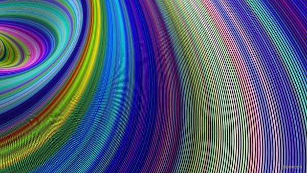 Colorful curves wallpaper.