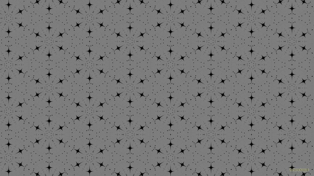 Gray wallpaper with black pattern