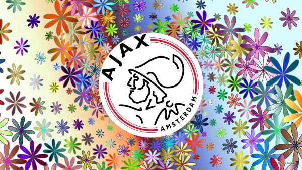 Ajax football logo wallpaper with flowers