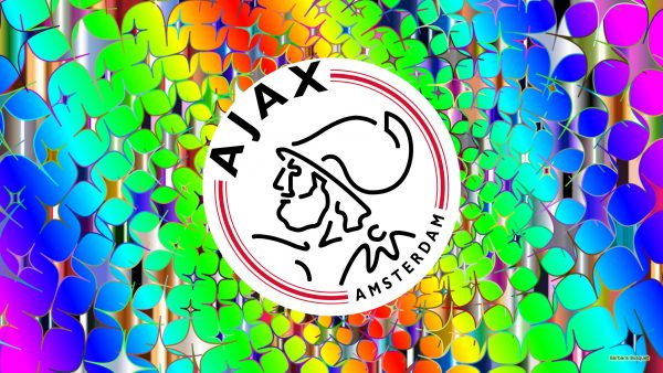 Colorful Ajax football wallpaper with stars