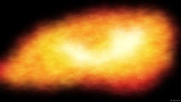 Dark wallpaper with explosion