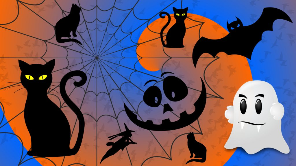 Halloween pattern various pictures