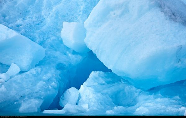 Ice wallpaper with blue ice