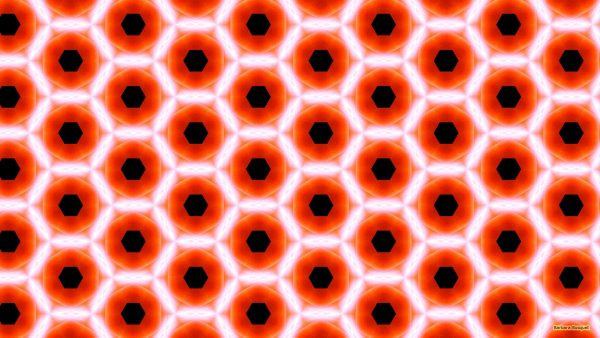 Orange black pattern wallpaper