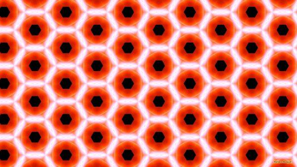 Orange black pattern wallpaper