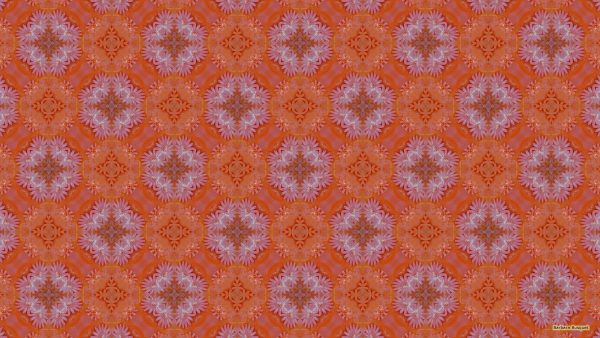 Pink orange birthday cake pattern wallpaper