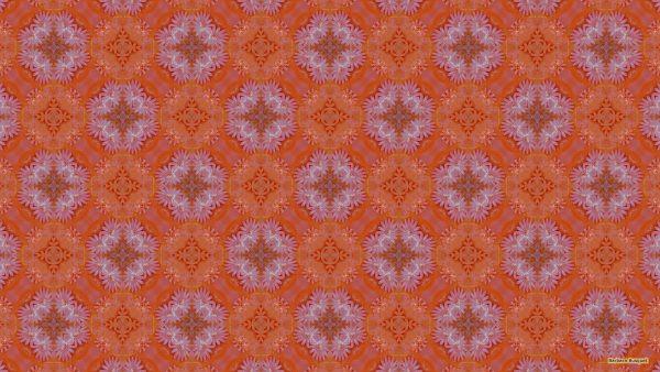 Pink orange birthday cake pattern wallpaper