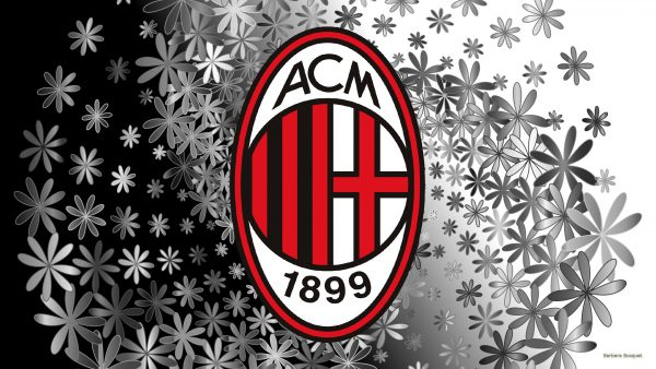 Ac Milan football wallpaper black white with logo