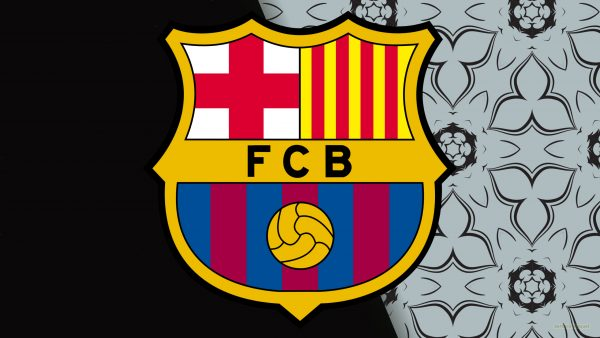 Black gray Barcelona logo wallpaper