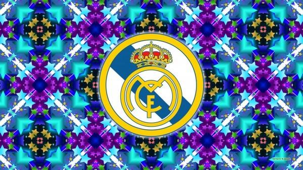 Blue Real Madrid emblem wallpaper