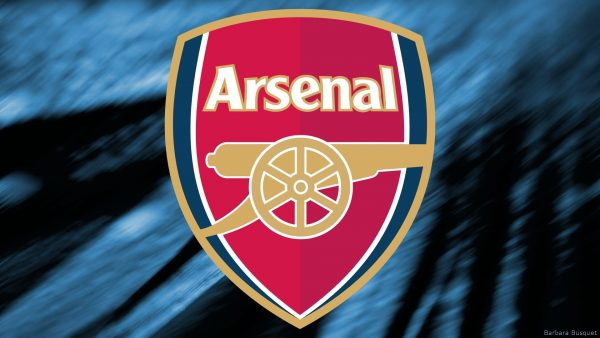 Blue Wallpaper with Arsenal logo