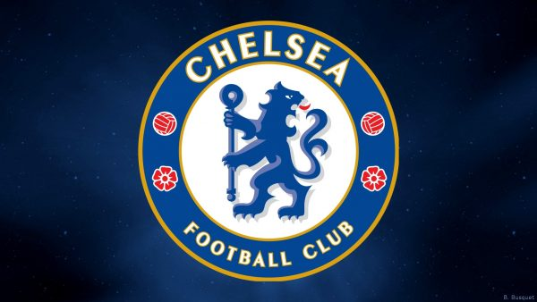 Blue galaxy Chelsea wallpaper