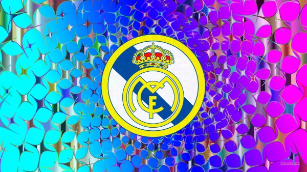 Blue purple Real Madrid stars wallpaper