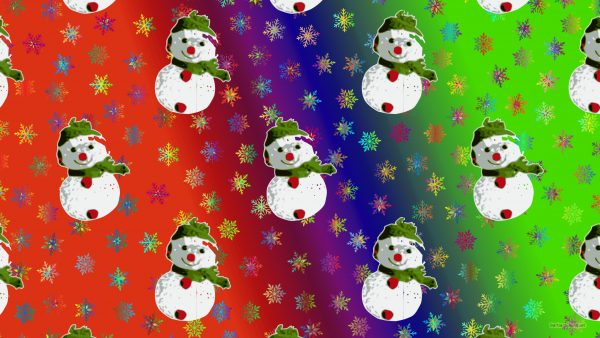 Christmas wallpaper snowmen and icicles