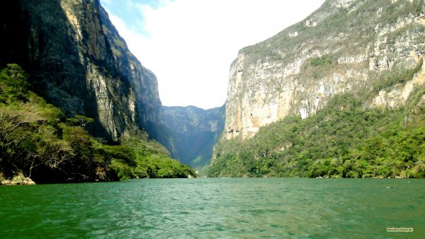 Wallpaper with the Sumidero Canyon in Mexico