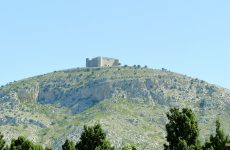 Mountain in Spain with castle