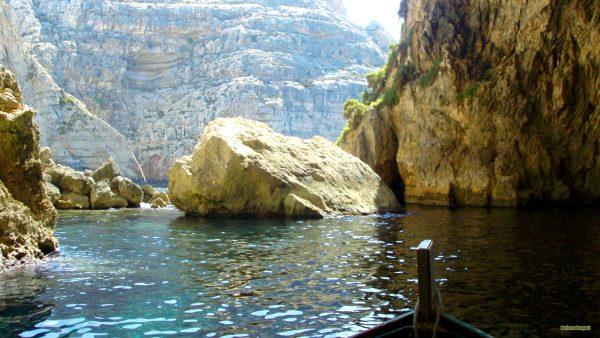 Rocks in the sea of Malta