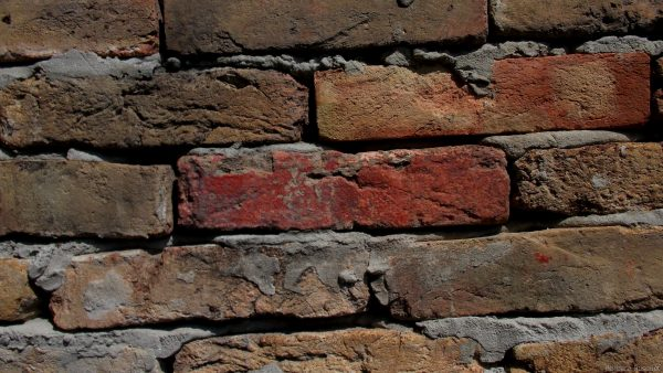 Pattern wallpaper with brick wall