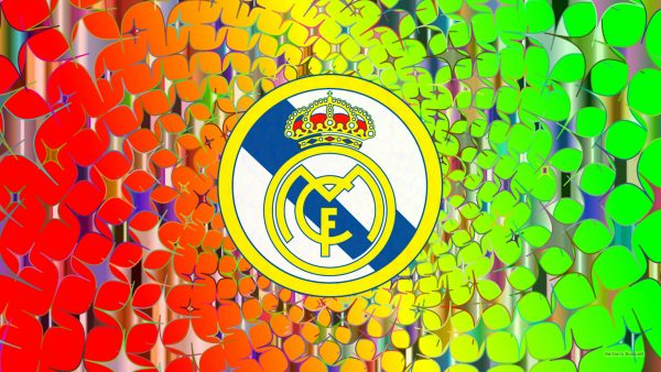 Real Madrid logo wallpaper with stars