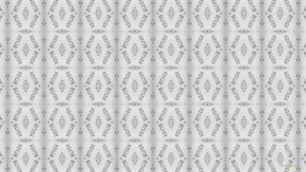 Silver text pattern wallpaper