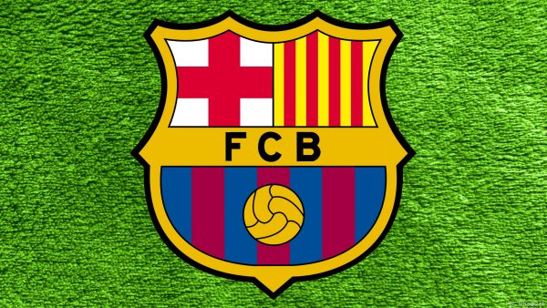 Wallpaper FC Barcelona in the color green