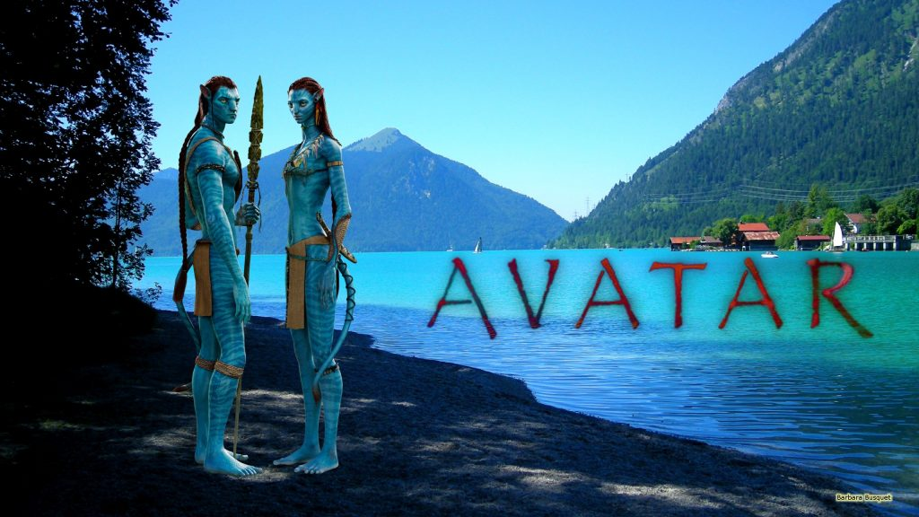 Avatar wallpaper with Jake Sully and Neytiri