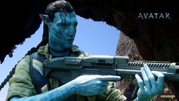 Avatar wallpaper with Jake Sully with gun