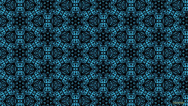 Blue HD wallpaper with a black pattern