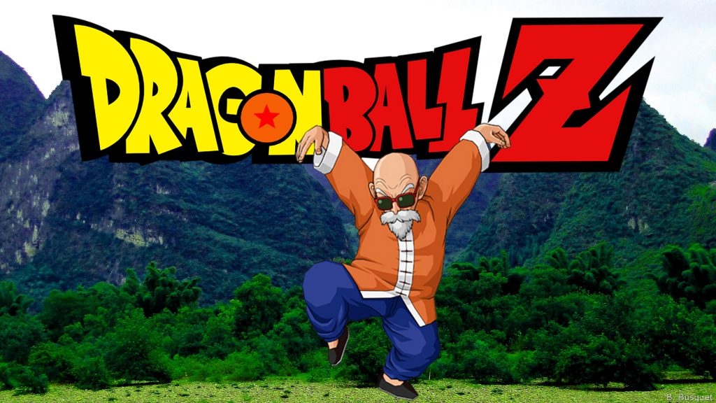 Master Roshi in the mountains